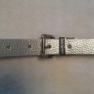 Michael Kors faux leather silver belt Size Large